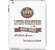Charles Darwin Quote iPad Case/Skin