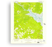USGS TOPO Map New Jersey NJ Green Bank 254426 1956 24000 Canvas Print