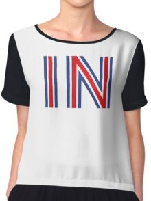 IN - Britain Stay Chiffon Top