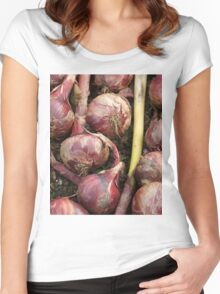 Red Onions Women's Fitted Scoop T-Shirt