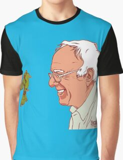 Bernie Sanders and bird Graphic T-Shirt