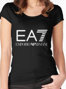 emporio armani  shirt Women's Fitted Scoop T-Shirt