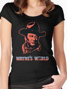 John Wayne's World Colour Women's Fitted Scoop T-Shirt