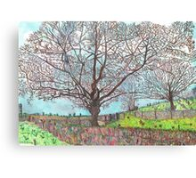 TREES IMPRESSIONIST CARTOON Canvas Print