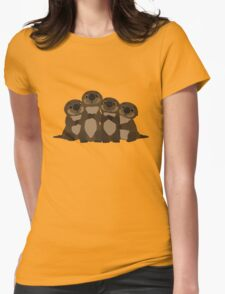 Sea otters Q Womens Fitted T-Shirt