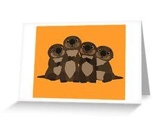 Sea otters Q Greeting Card