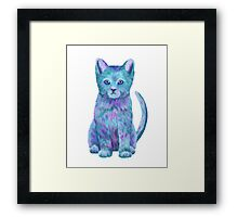 Blue Kitty Isla Framed Print