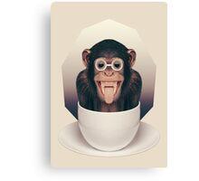 Caffeinimals: Monkey Canvas Print