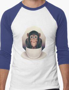 Caffeinimals: Monkey Men's Baseball ¾ T-Shirt