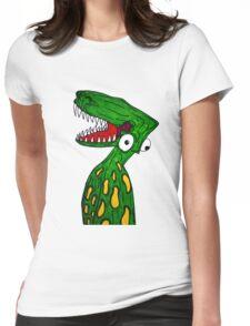 Alien Dinosaur  Womens Fitted T-Shirt