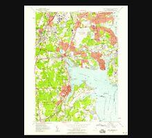 USGS TOPO Map Rhode Island RI East Greenwich 353280 1957 24000 T-Shirt