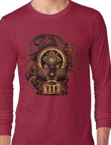 Infernal Steampunk Vintage Machine #2B Long Sleeve T-Shirt