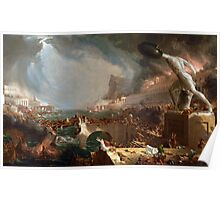 The Course of Empire: Destruction by Thomas Cole (1836) Poster