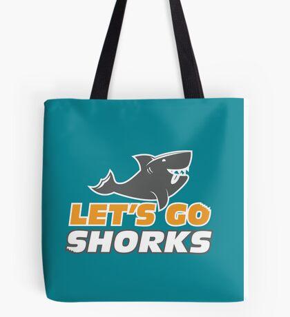 Let's Go Shorks - Version 2 Teal Tote Bag