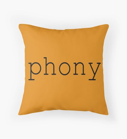 Phony Throw Pillow