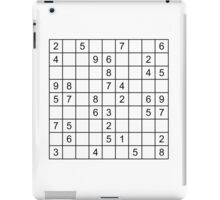 Sudoku Easy iPad Case/Skin