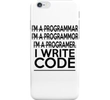Programmer joke iPhone Case/Skin