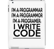 Programmer joke iPad Case/Skin