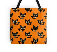 Cartoon Black Cat Pattern Tote Bag