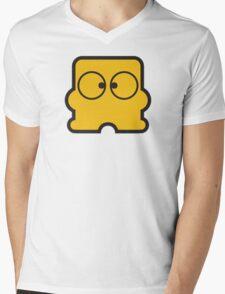 Famicom Disk System Logo Mens V-Neck T-Shirt