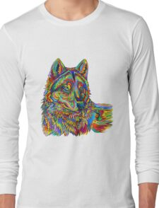Psychedelic Wolf Long Sleeve T-Shirt