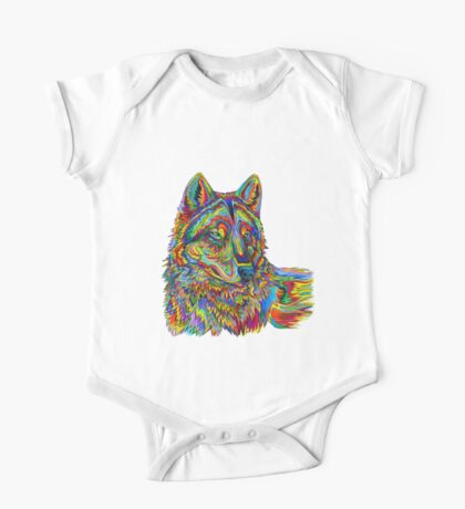 Psychedelic Wolf One Piece - Short Sleeve