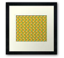 Cute Yellow Corn Pattern Framed Print
