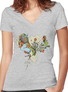 Flourish Women's Fitted V-Neck T-Shirt