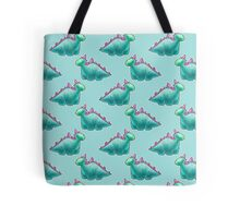 Blue Dinosaur Pattern Tote Bag