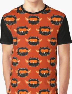 Cutesy Halloween Owl Pattern Graphic T-Shirt