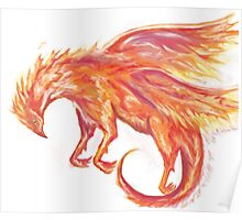 Mythical Combination: Pheonix + Griffin Poster