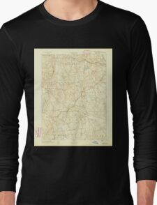 USGS TOPO Map Connecticut CT Gilead 331025 1892 62500 Long Sleeve T-Shirt