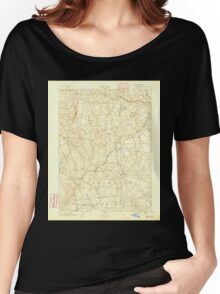 USGS TOPO Map Connecticut CT Gilead 331025 1892 62500 Women's Relaxed Fit T-Shirt