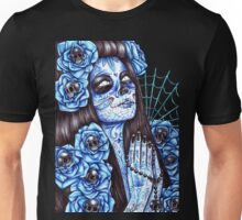 Day of the Dead Blue Unisex T-Shirt