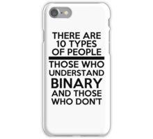 Binary joke iPhone Case/Skin