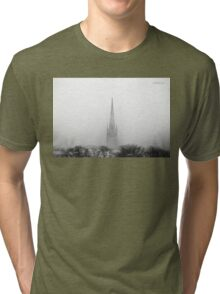Chalmers Wesley United Church Black and White Tri-blend T-Shirt