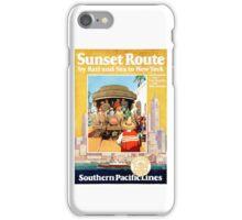 San Francisco LA New York Vintage Travel Poster iPhone Case/Skin