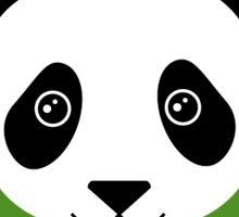 Happy Panda on green  Sticker