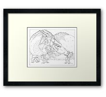 Hoarding Serpent Framed Print