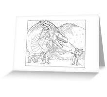 Hoarding Serpent Greeting Card