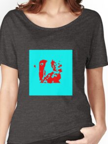 Blue red Women's Relaxed Fit T-Shirt