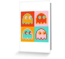 Pac-Man Ghost  Greeting Card