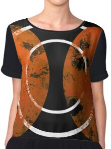 Resonance - Abstract in gold, black and white Chiffon Top
