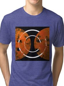 Resonance - Abstract in gold, black and white Tri-blend T-Shirt