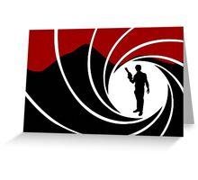 Han Solo - James Bond - Mix up - Death - Minimal - Star Wars - 007 - Black White Red Greeting Card