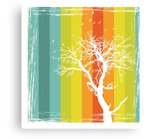 Tree and Color Range Canvas Print