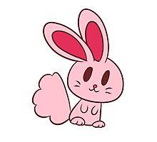 Adorable Light Pink Bunny Photographic Print