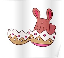 Easter Egg Shell Bunny Poster