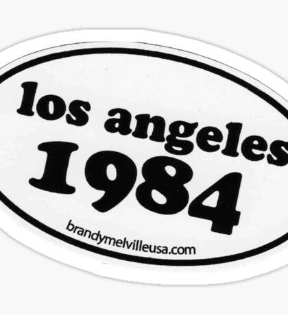 BRANDY MELVILLE LOS ANGELES 1984 STICKER Sticker