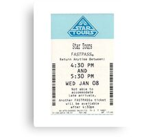 Star Tours Fastpass Canvas Print